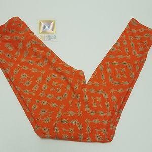 Lularoe Orange Arrow Leggings Tween